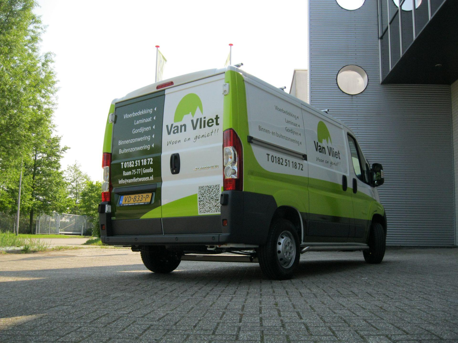 Autobelettering Fris en Nieuw Reeuwijk