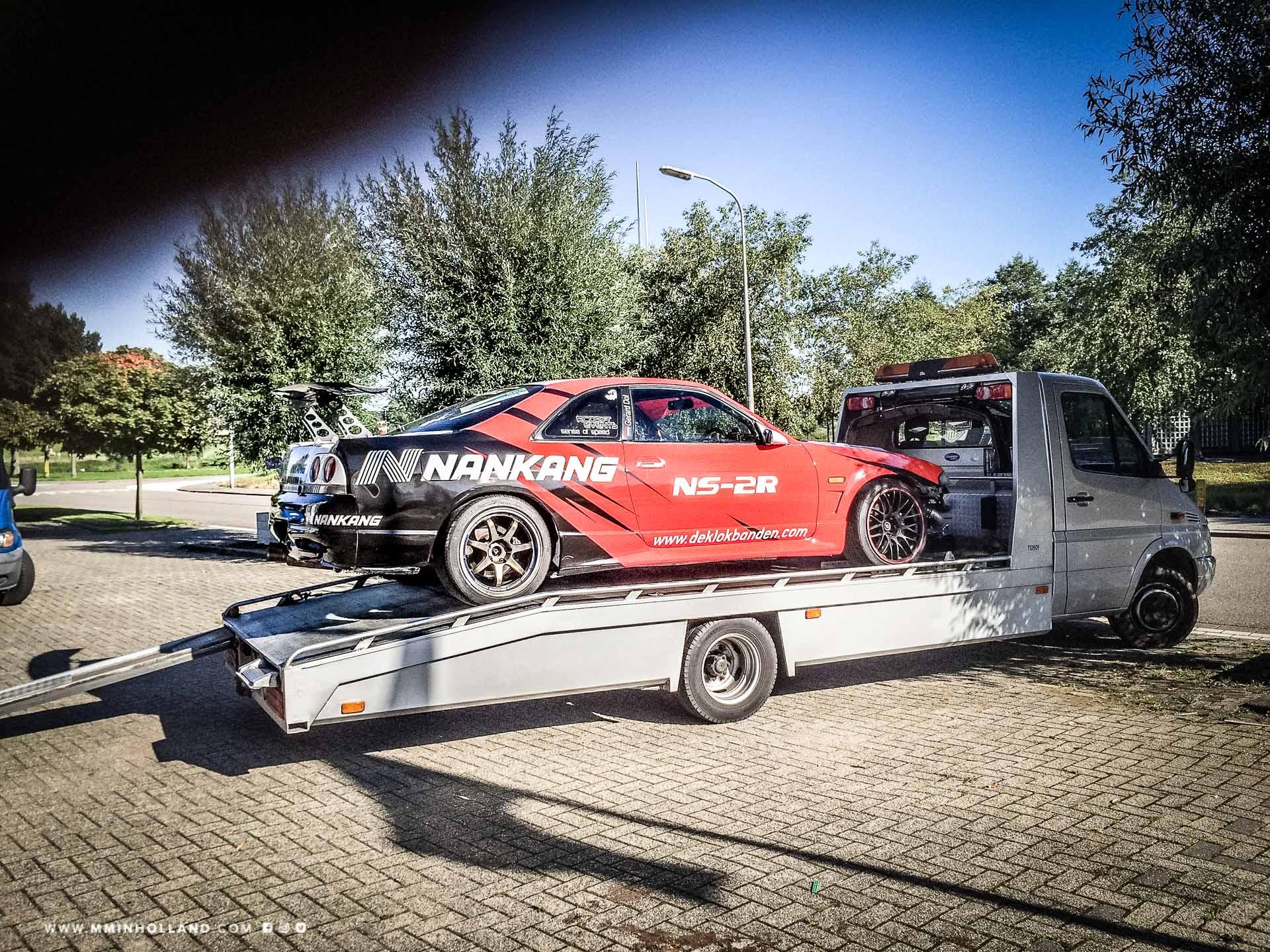 Carwrap van MindMade in holland - Nissan Skyline driftcar van Gerard Dol