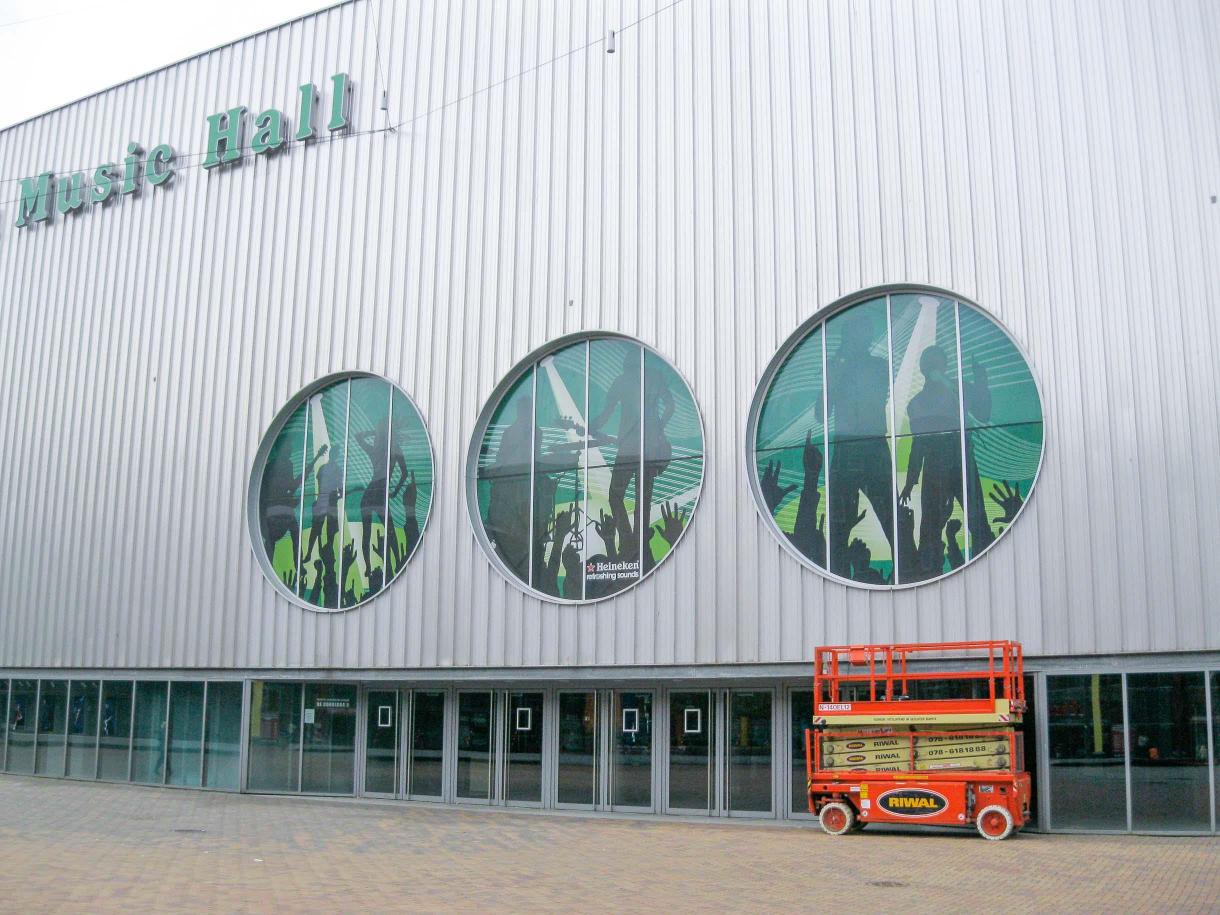 Raambelettering Heineken Music Hall