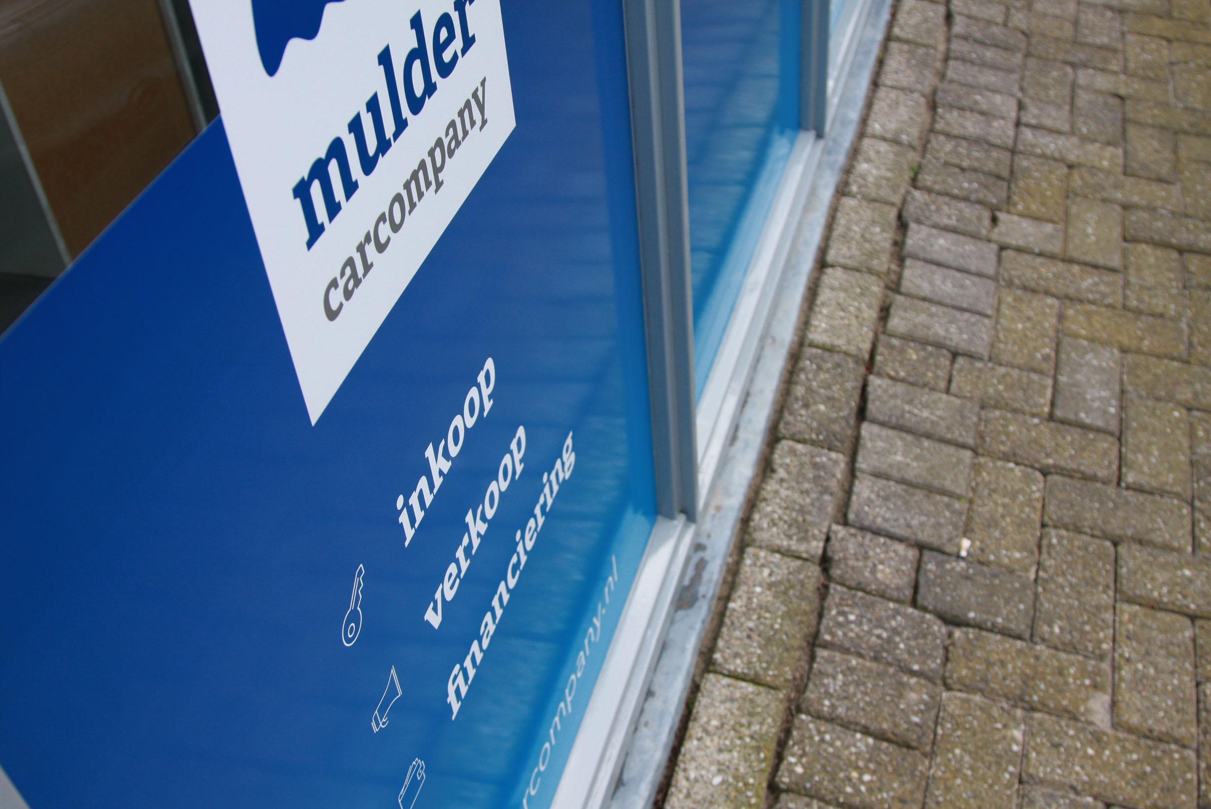 Raambelettering Mulder Car Company Gouda