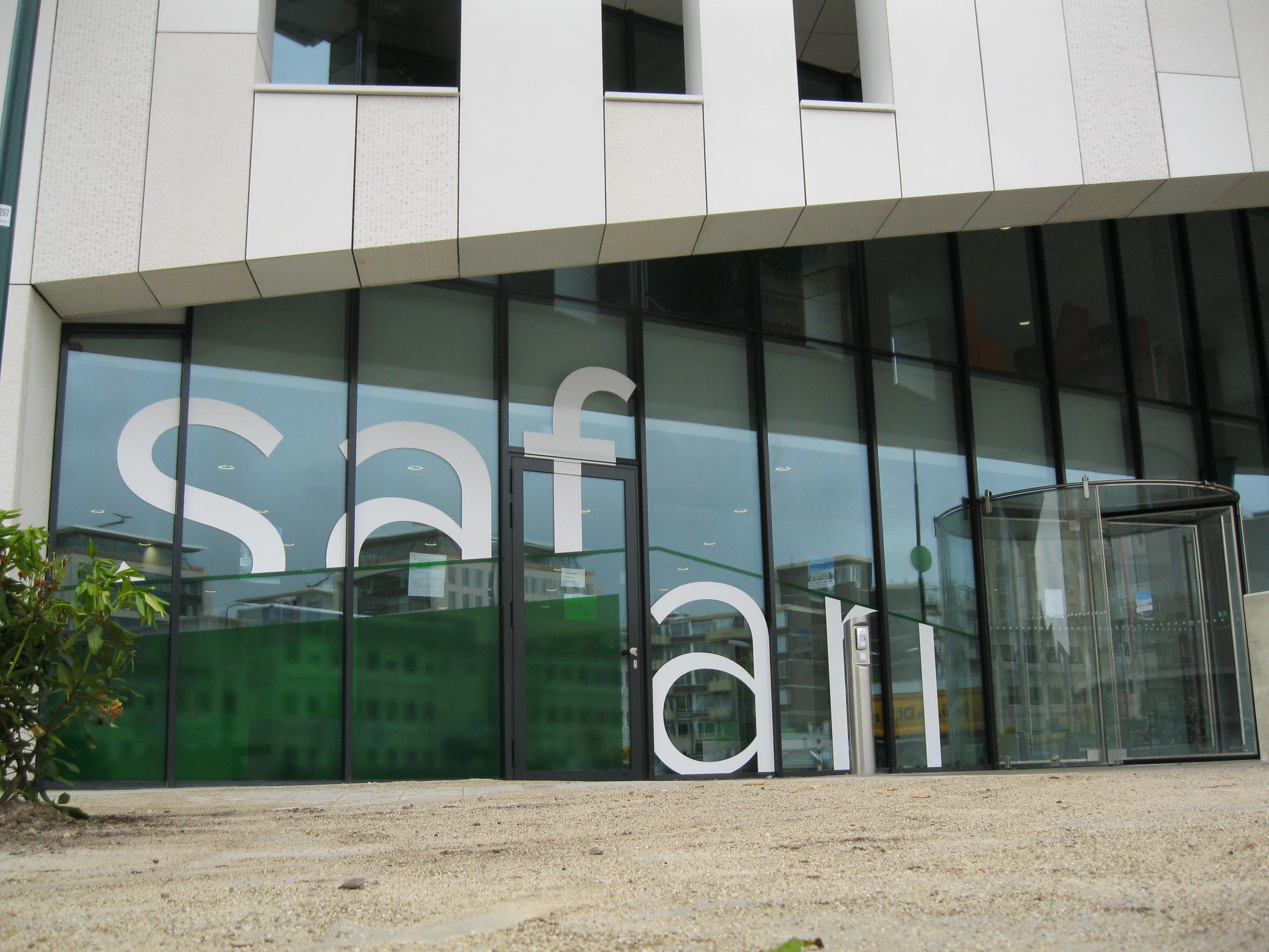 Raambelettering MFA Safari Maarssen