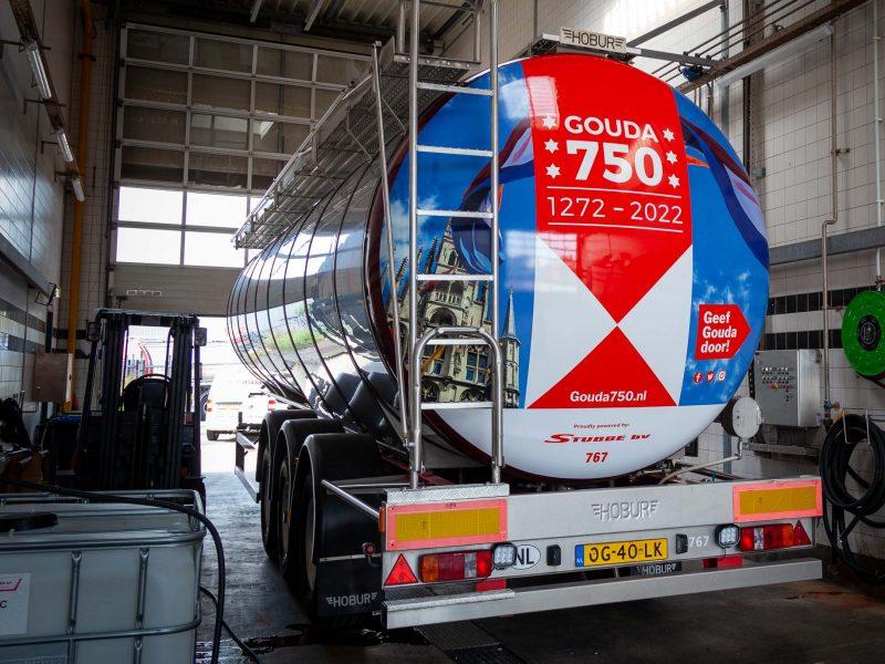 Tanktrailer Gouda 750 jaar Stubbe bv