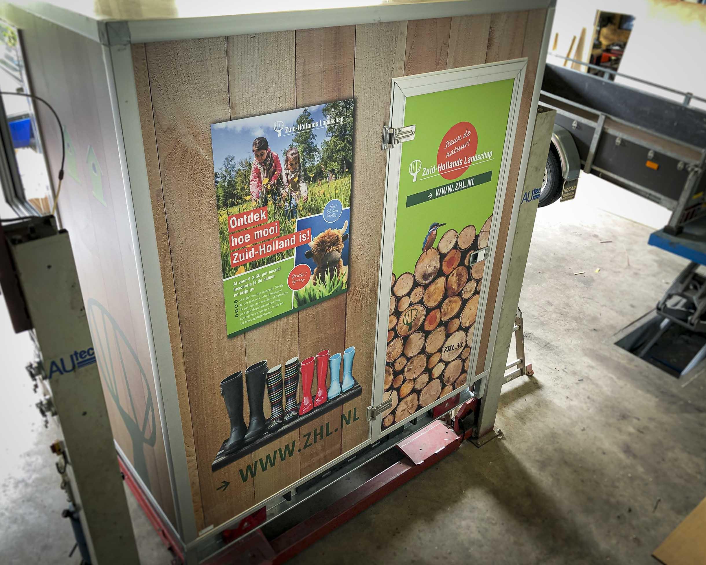 Een coole aanhanger voor Stichting Het Zuid Hollands Landschap, compleet fullcolour gewrapt